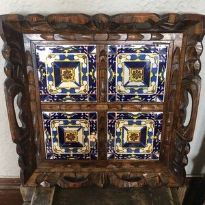 Wood and Tile Tray